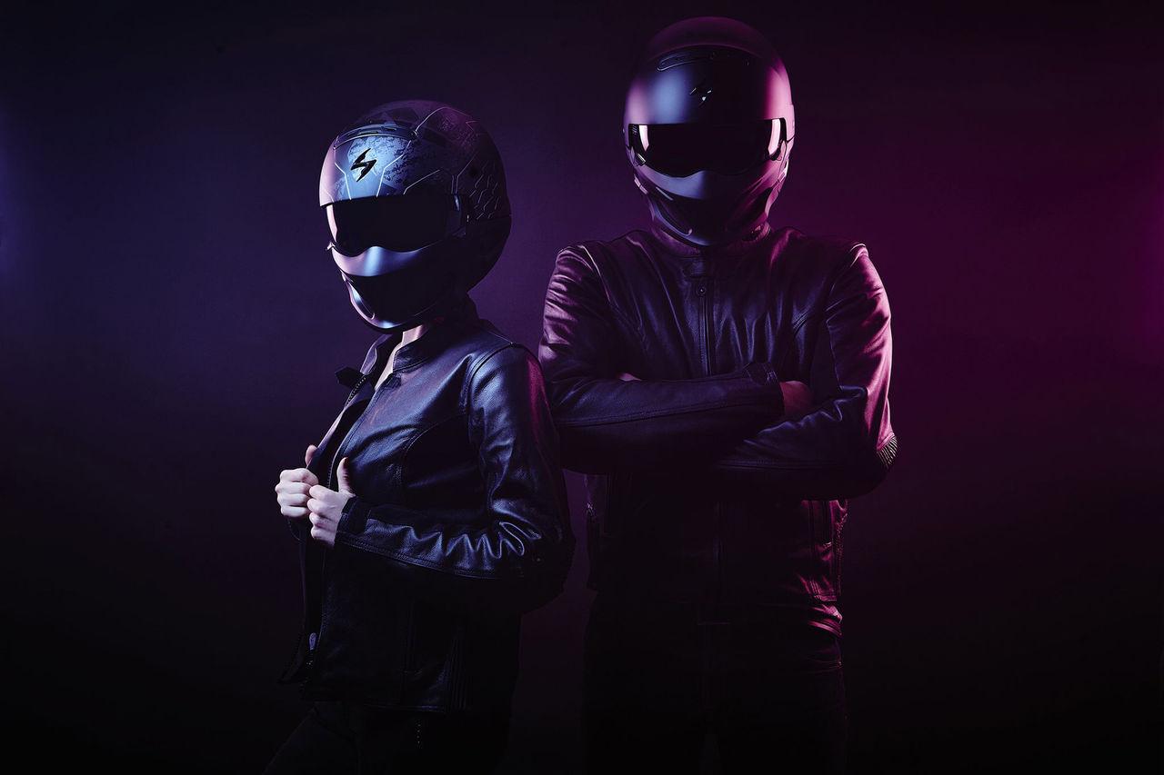 Ny motorcykelhjälm i två delar från Scorpion