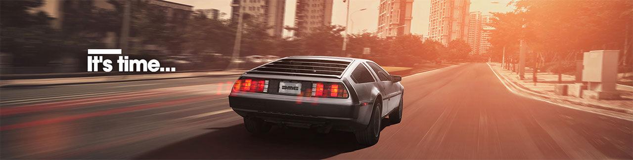 Det är dags att boka din nya DeLorean DMC-12 nu