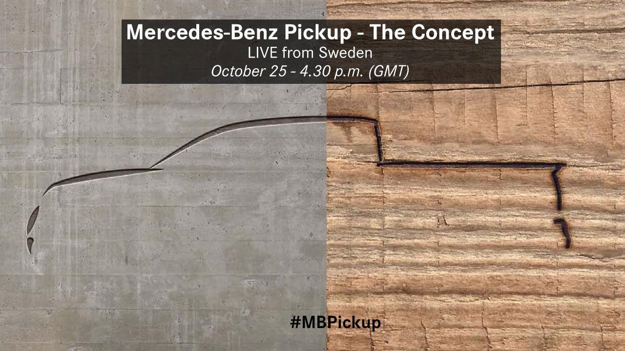 Den 25 oktober visar Mercedes upp sin pickup