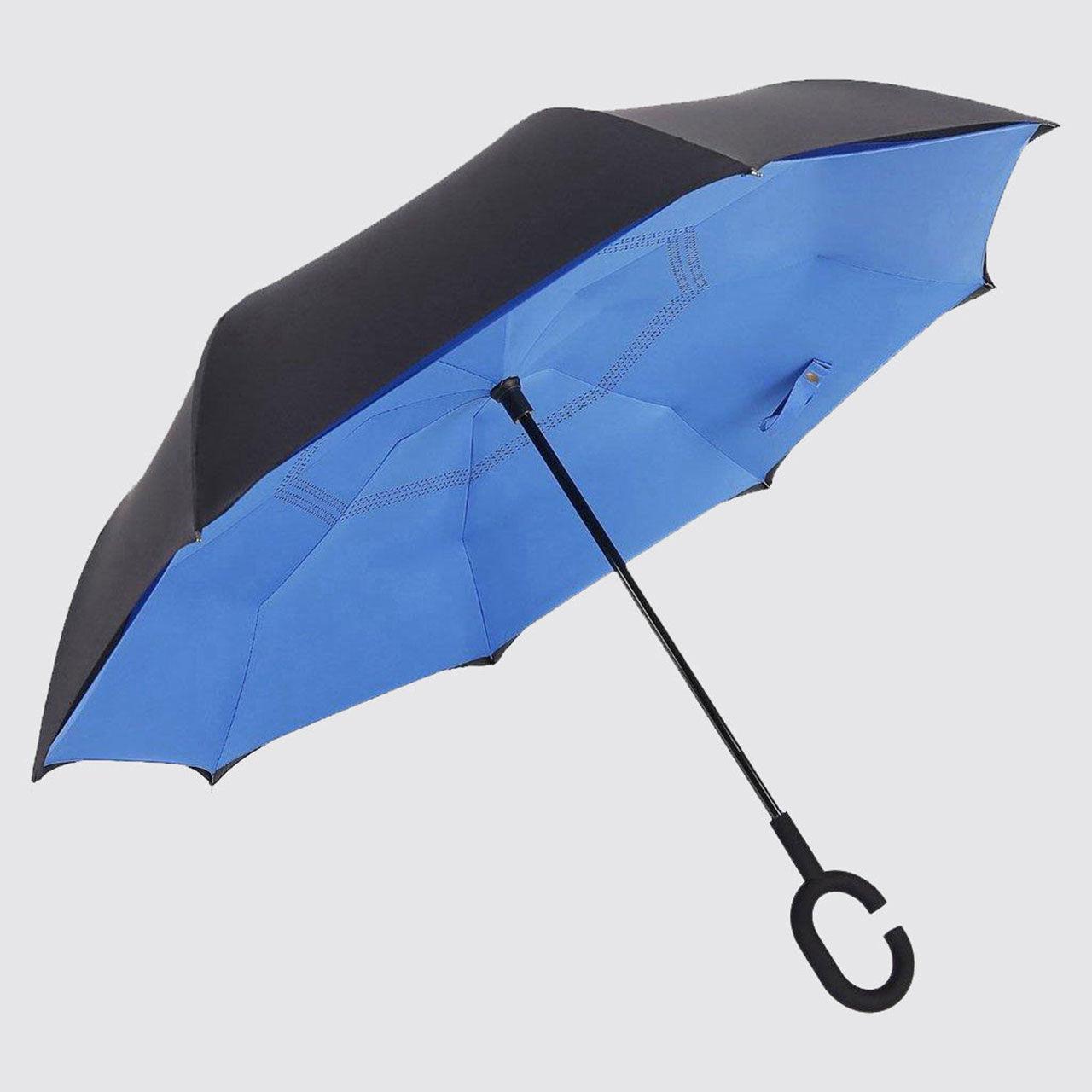 Paraplyt som öppnas åt