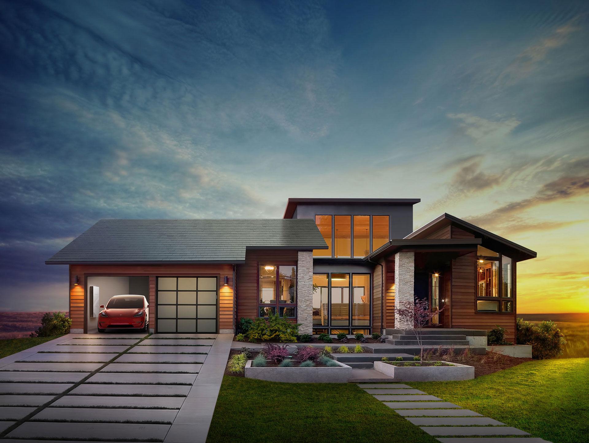 Tesla och SolarCity visar upp Solar Roof och Powerwall 2