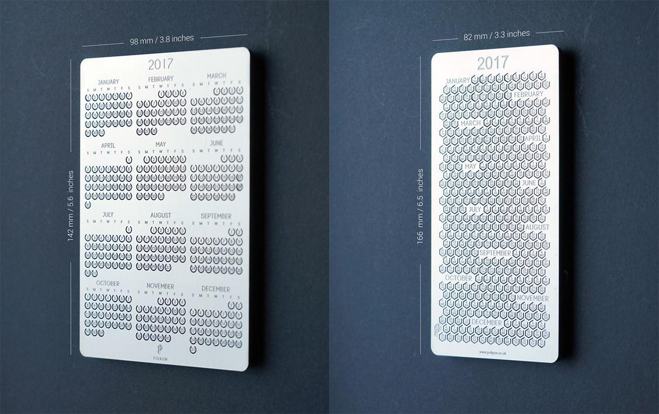 Kalender i metall