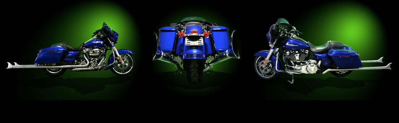 Galet långt avgassystem till din Harley-Davidson
