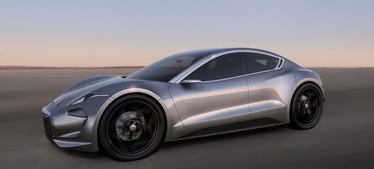 Nya bilder på Fiskers elbil