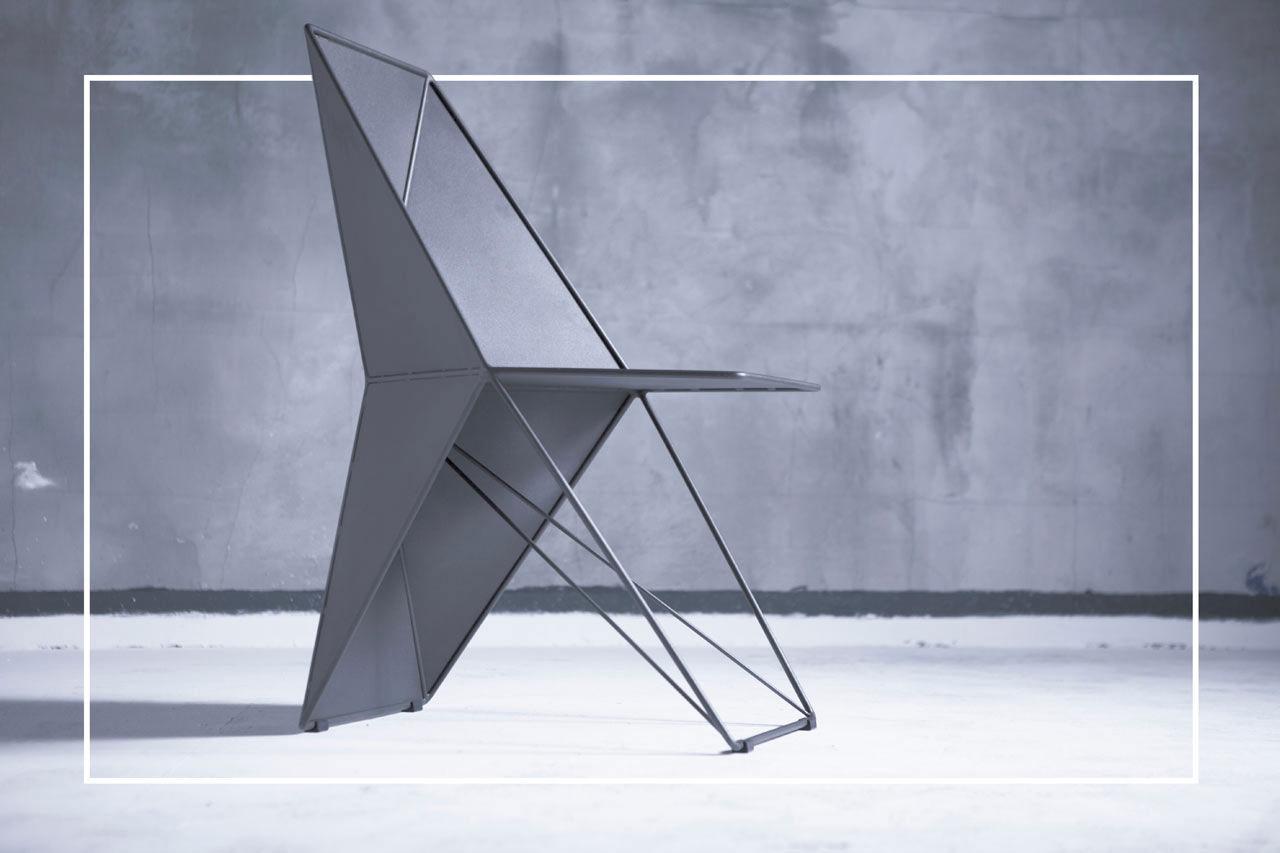 Härlig stol med strikta former