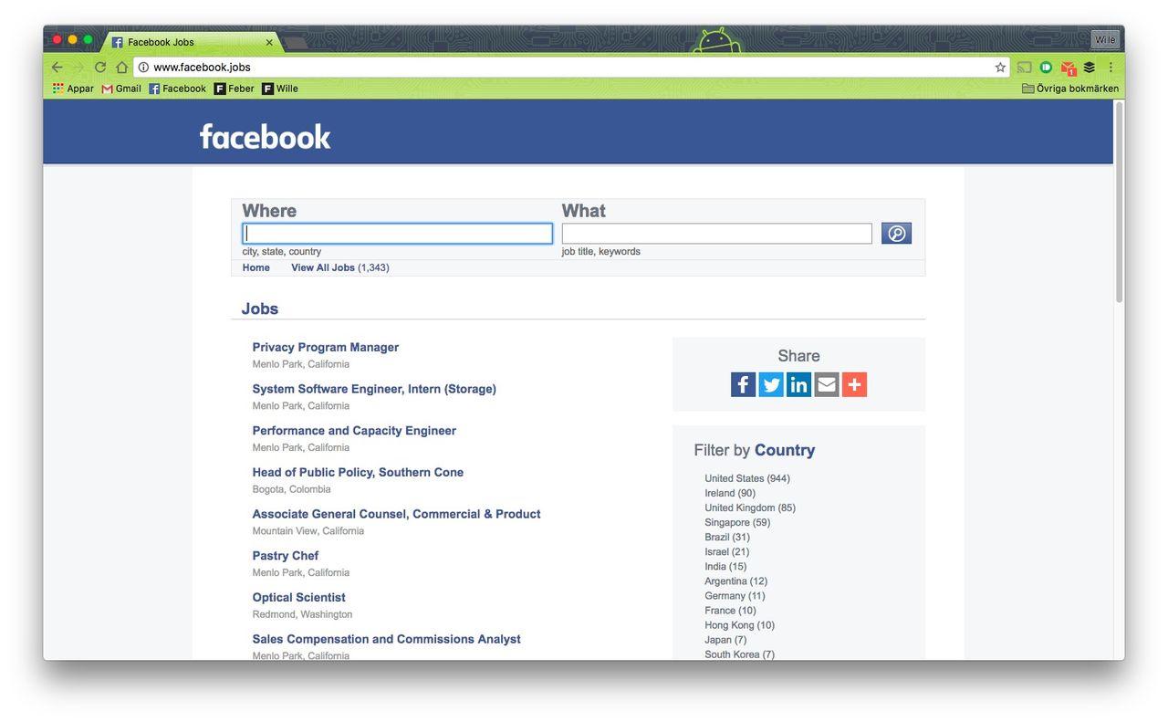 Facebook börjar konkurrera med LinkedIn