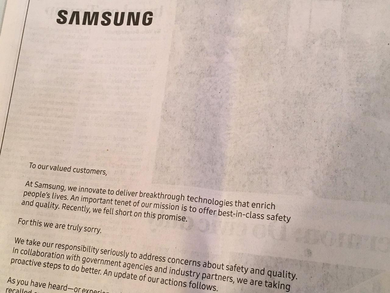 Samsung ber om ursäkt för Galaxy Note 7