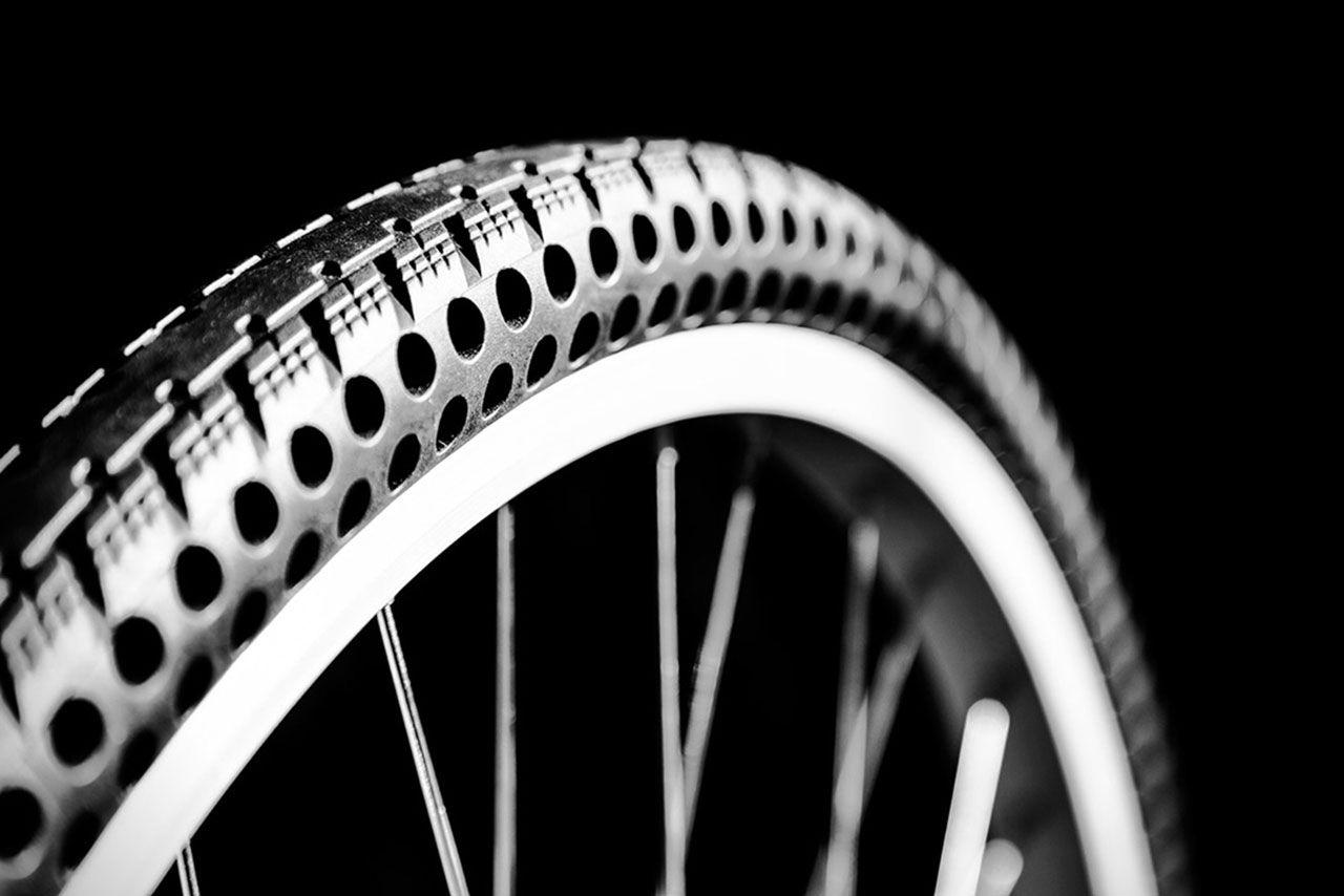 Cykeldäcken som inte kan punkteras
