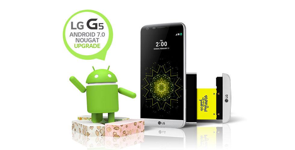 LG börjar rulla ut Android 7.0 Nougat till sin G5-modell