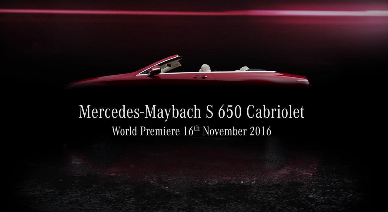 Mercedes presenterar snart en Maybach-cabriolet
