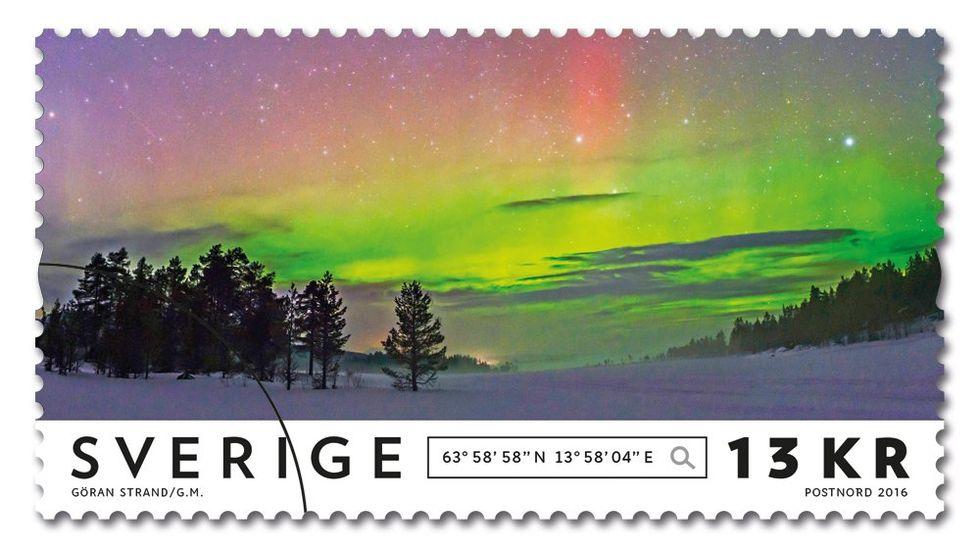 Postnord släpper frimärken med Norrsken