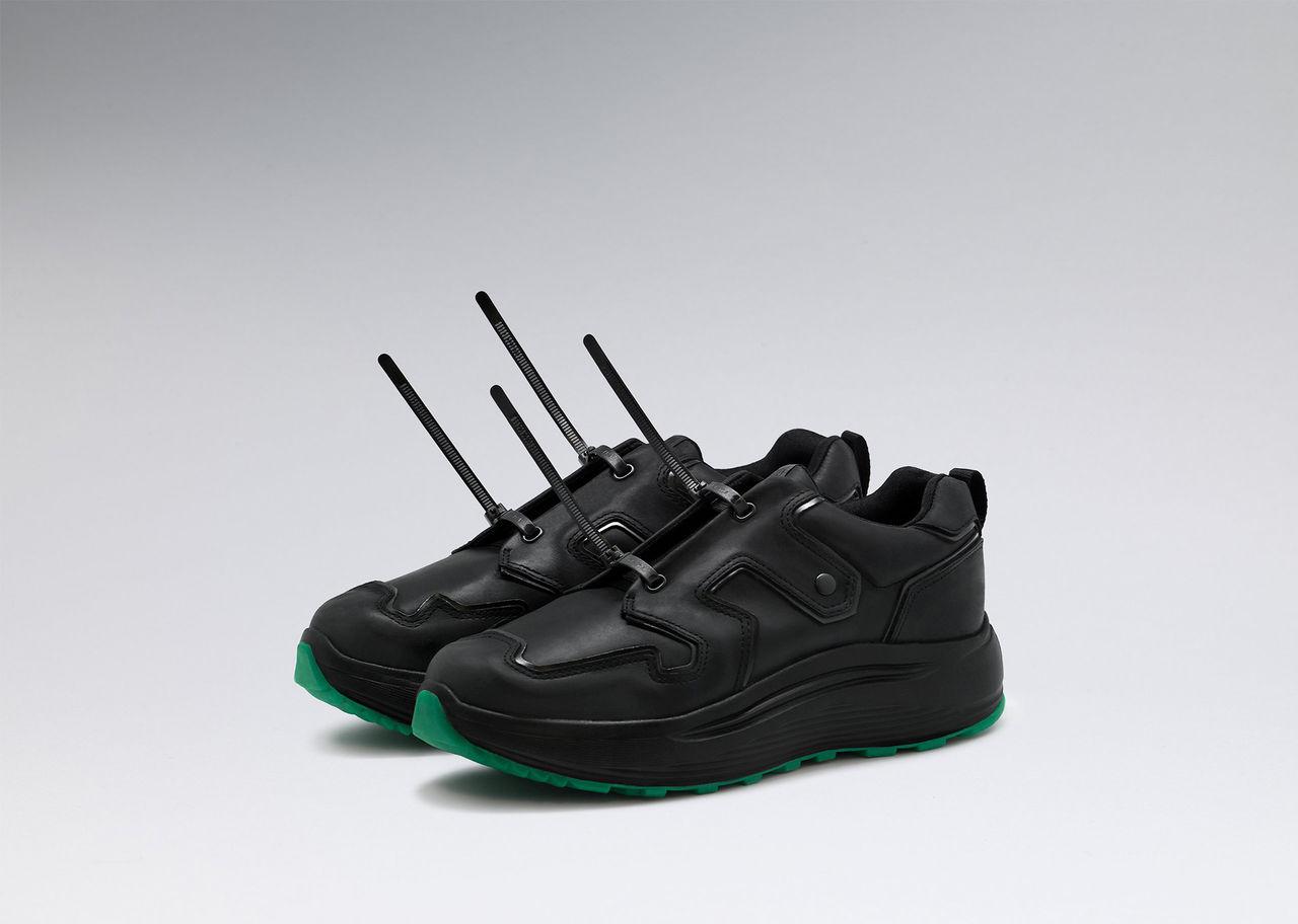 Yung Leans skor har buntband istället för snören