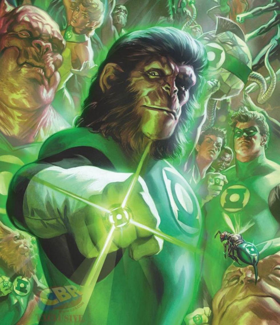 Mashup mellan Green Lantern och Planet of the Apes blir serietidning
