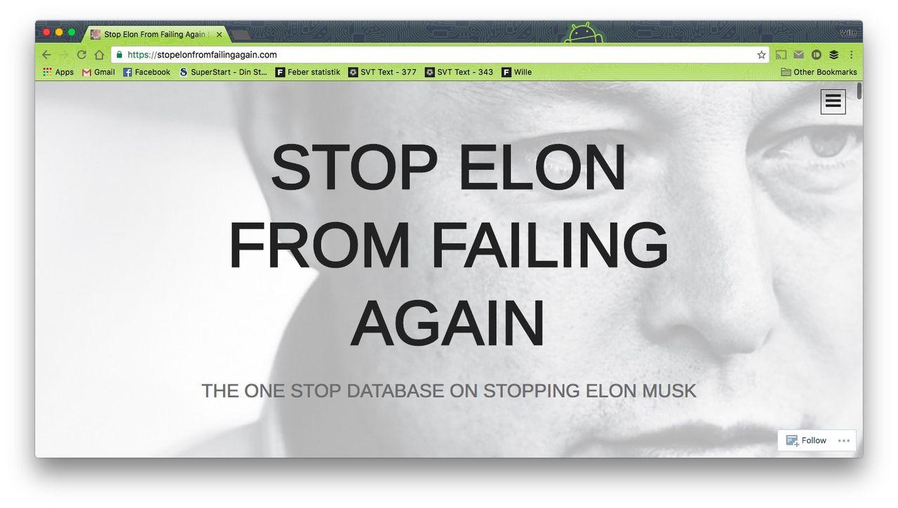 Nu är trollen ute efter Elon Musk