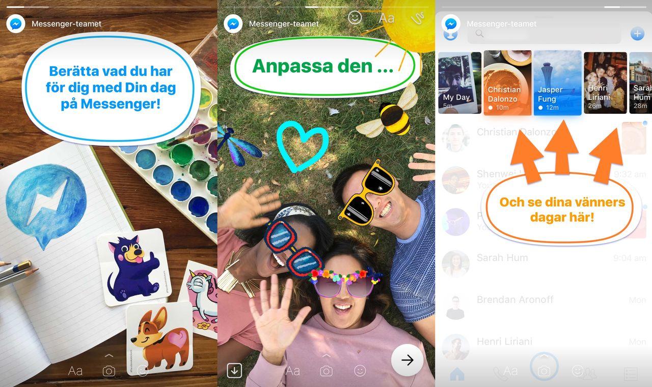 Facebook Messenger rullar ut Stories-funktion
