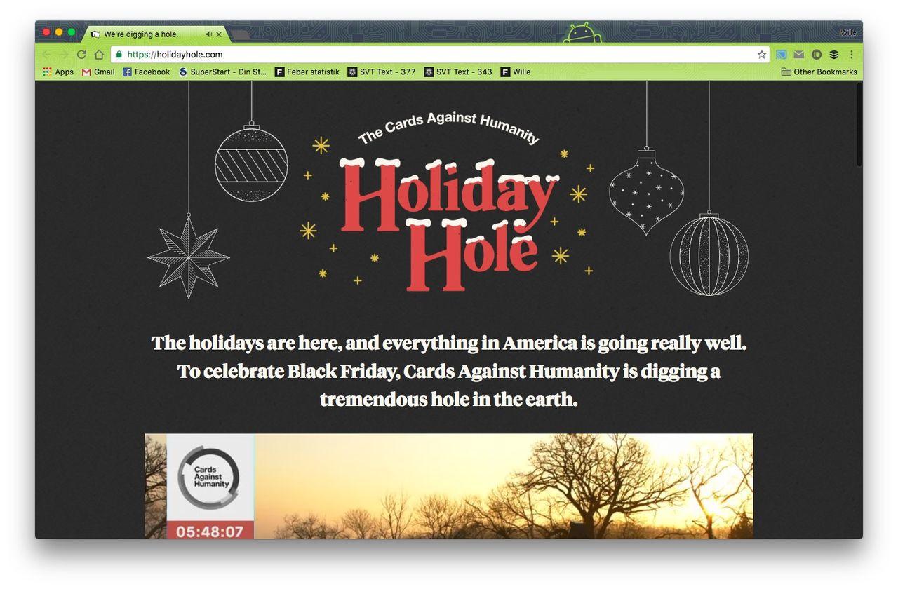 Cards Against Humanity crowdfundar ett enormt hål