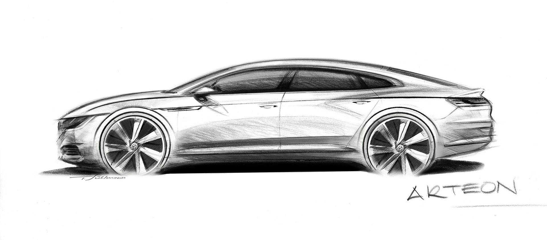 Volkswagen visar konceptbilen Arteon