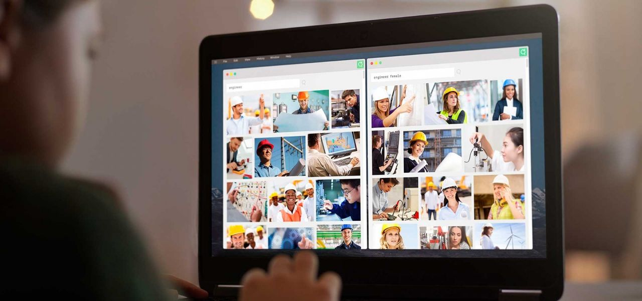 Re-search är en webbläsar-plugin för jämställda bildsökningar
