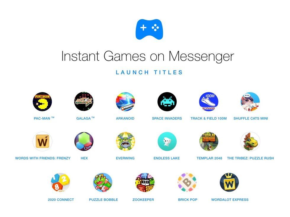 Spel på ingång till Facebook Messenger