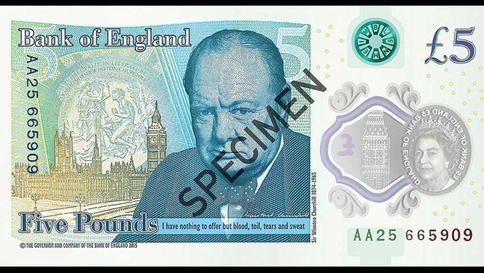 Vegetarianer upprörda över Storbritanniens nya 5-pundsedel