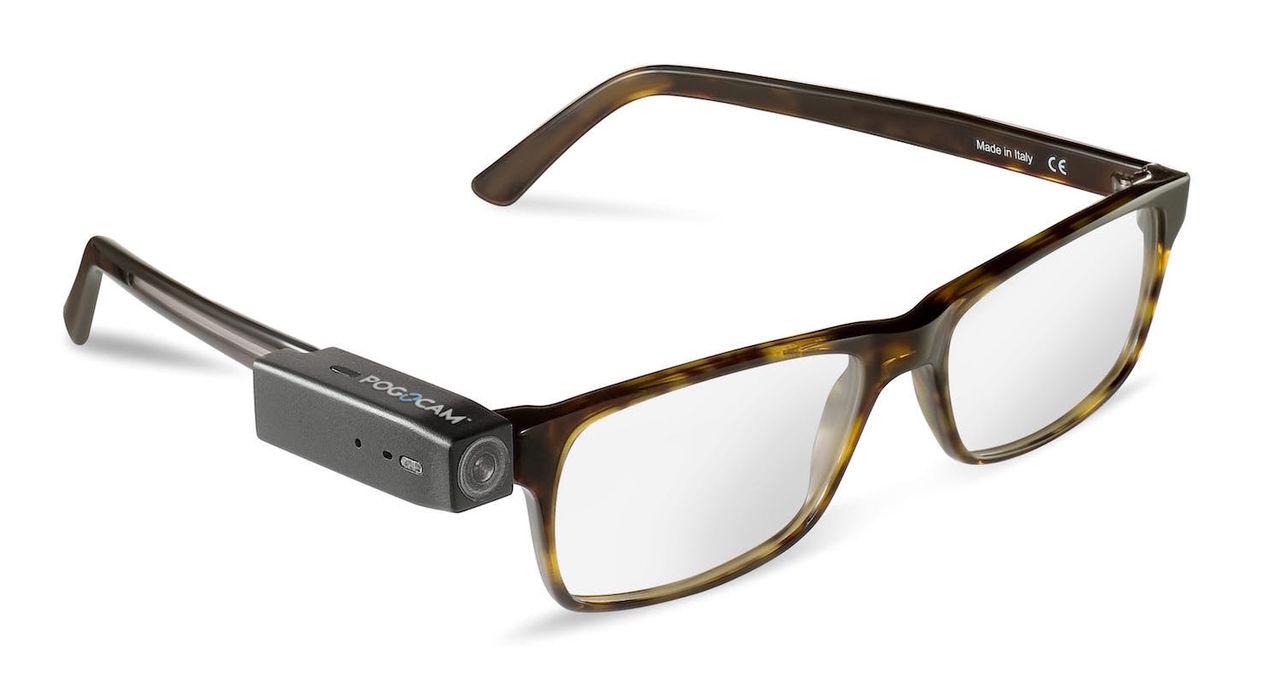 Pogocam är en liten kamera du kan sätta på glasögonen