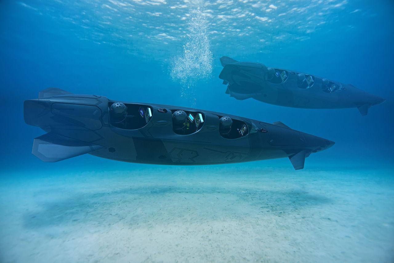 Ortega visar ny eldriven ubåt med plats för tre