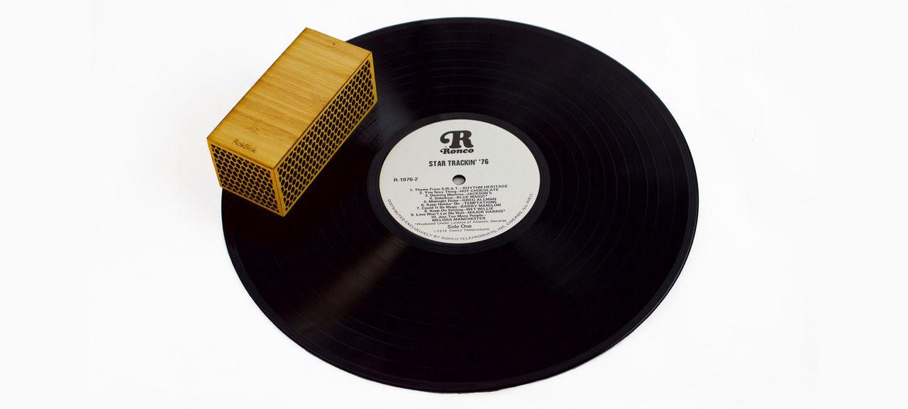 Ny version av bärbar vinylspelare