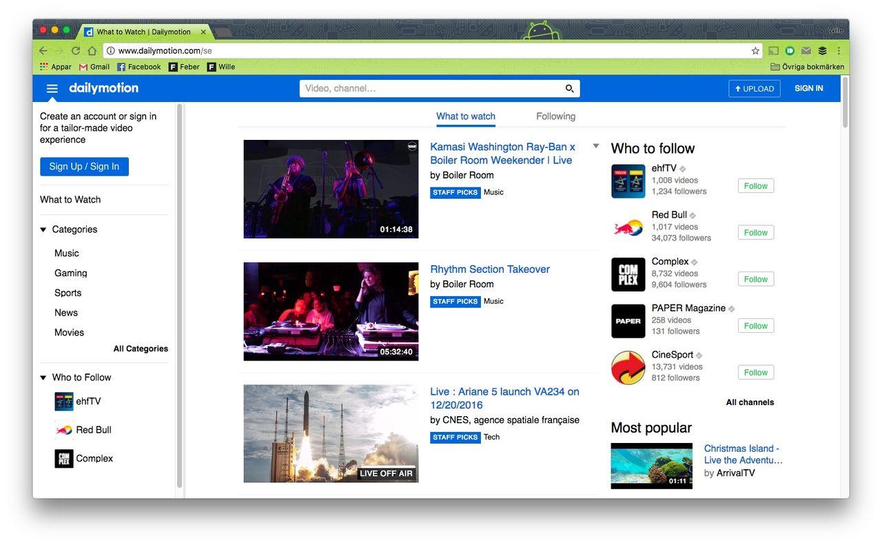 Miljontals användarkonton från Dailymotion på drift