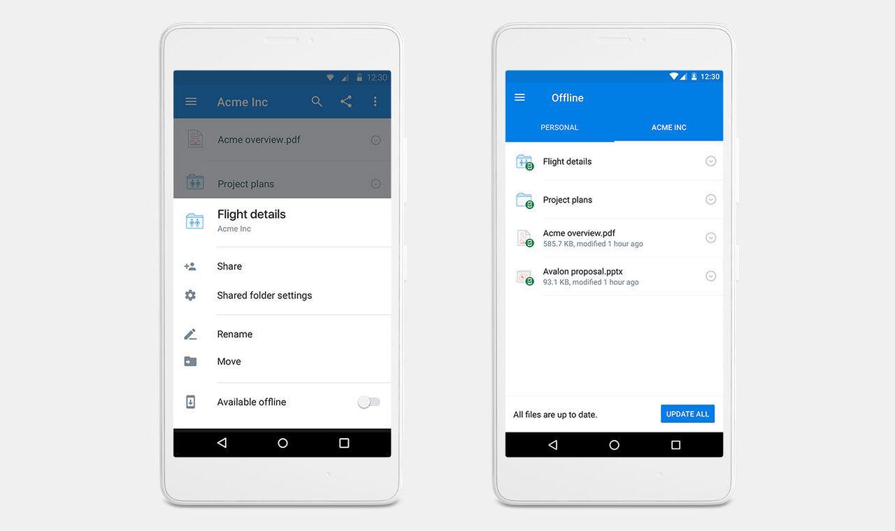 Spara Dropbox-filer offline på mobilen