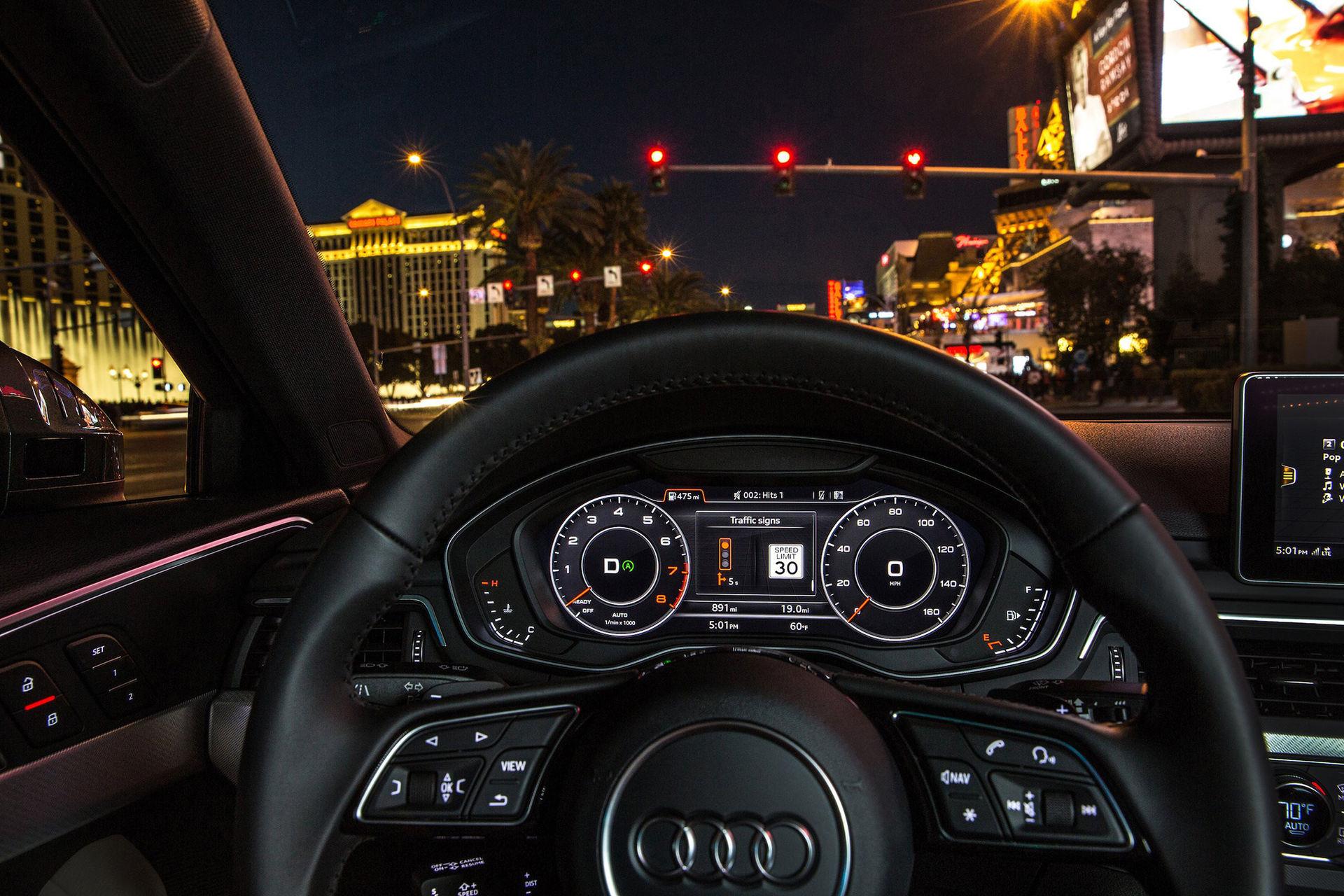 Audi-bilar kopplas till trafikljusen