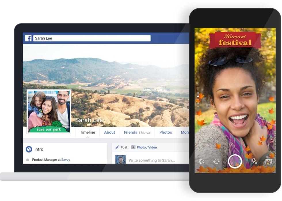 Facebook låter dig skapa egna ramar