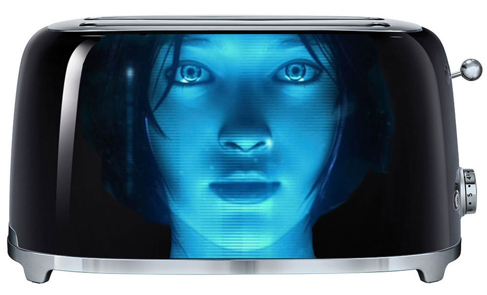 Microsoft vill bygga in Cortana i kylskåp, brödrostar och annat
