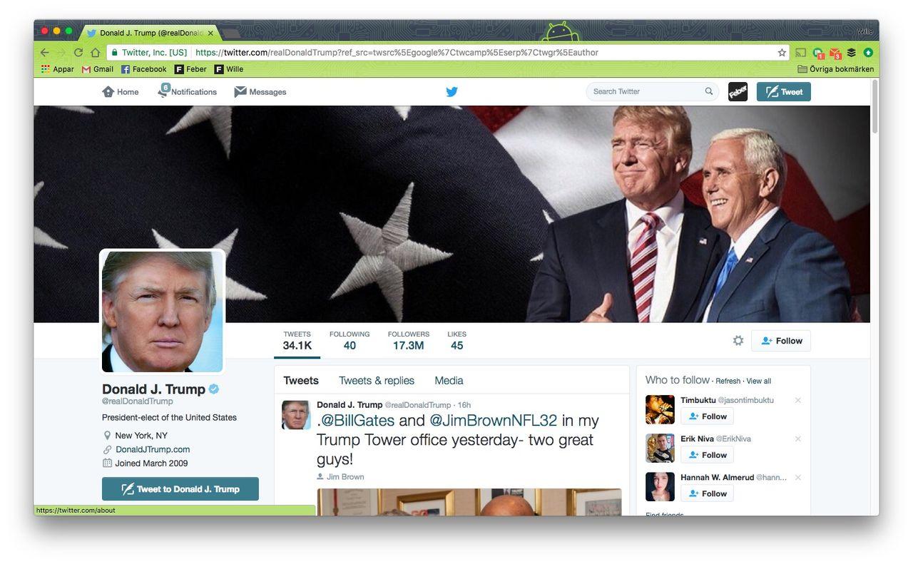 Twitter bjöds inte in till Donald Trumps tech-möte