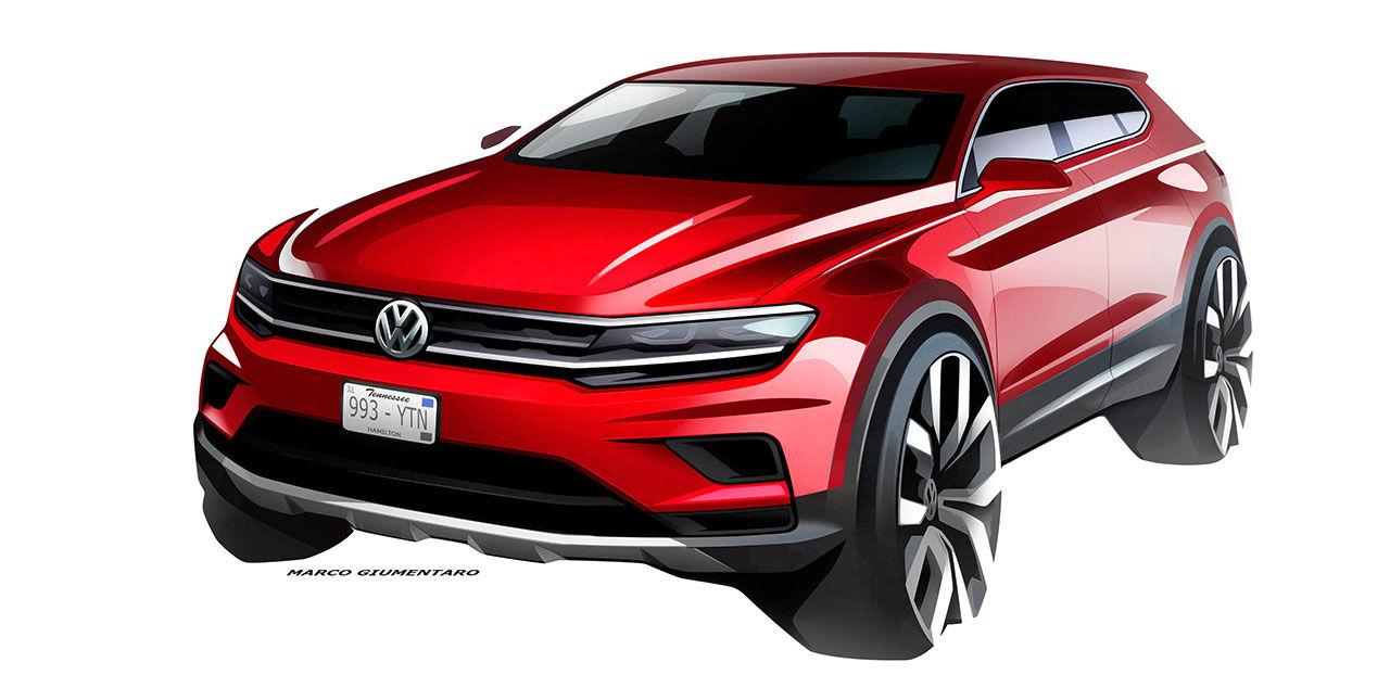 Volkswagen presenterar Tiguan med plats för sju