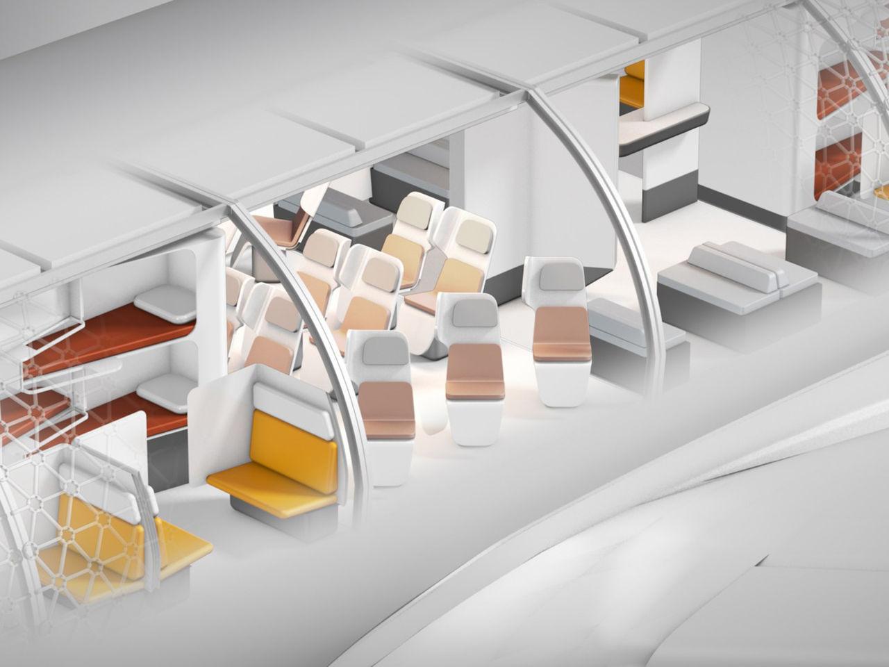 Modulär interiör i flygplan