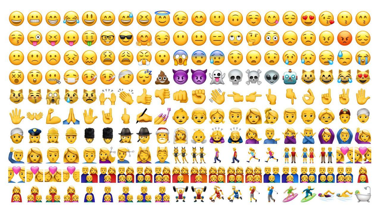 Sök efter emojis direkt i texten