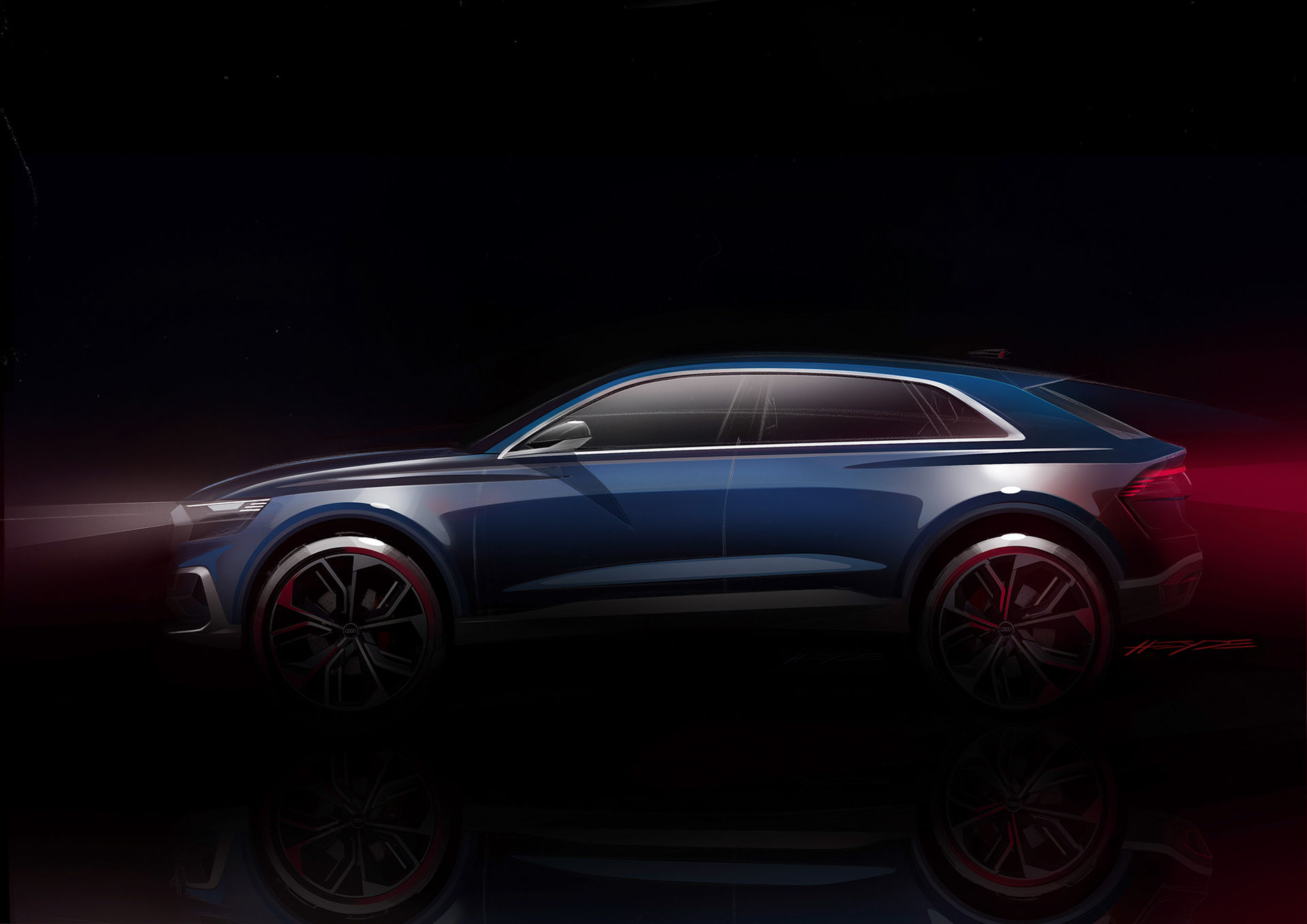 Audi visar skisser på Q8 Concept