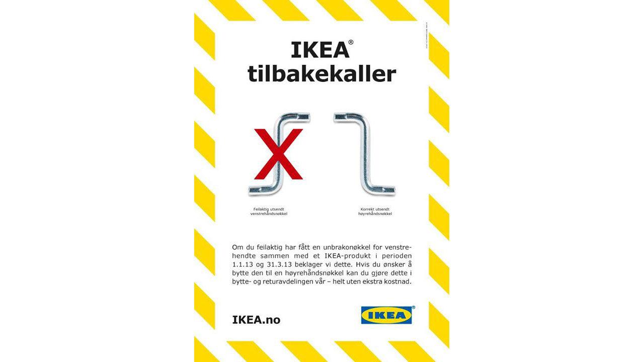 Ikea slopar insexnyckeln