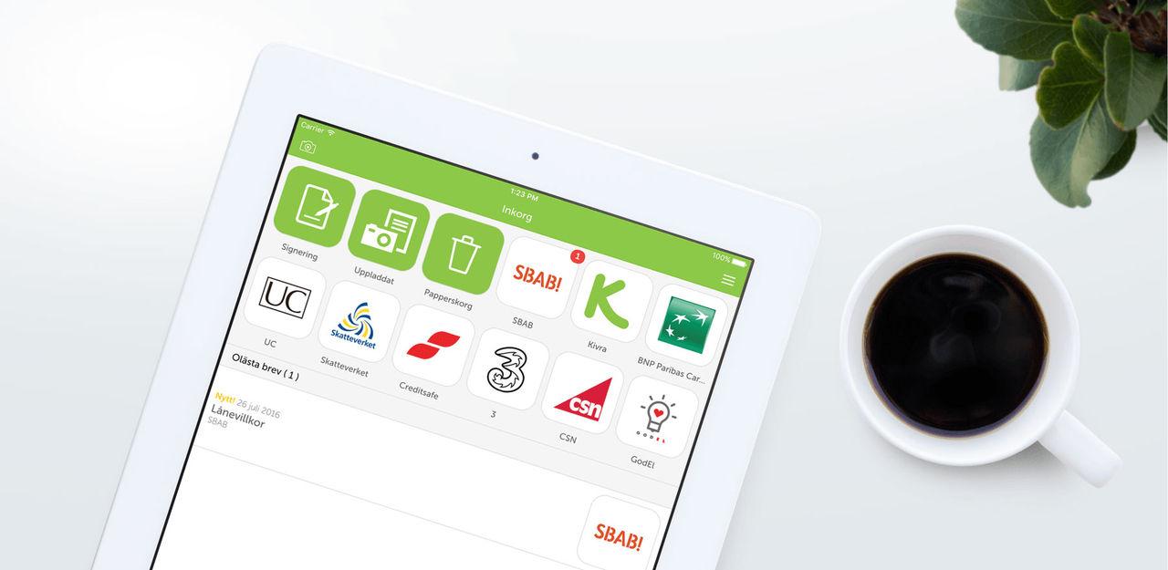 Appen Kivra har över en miljon användare