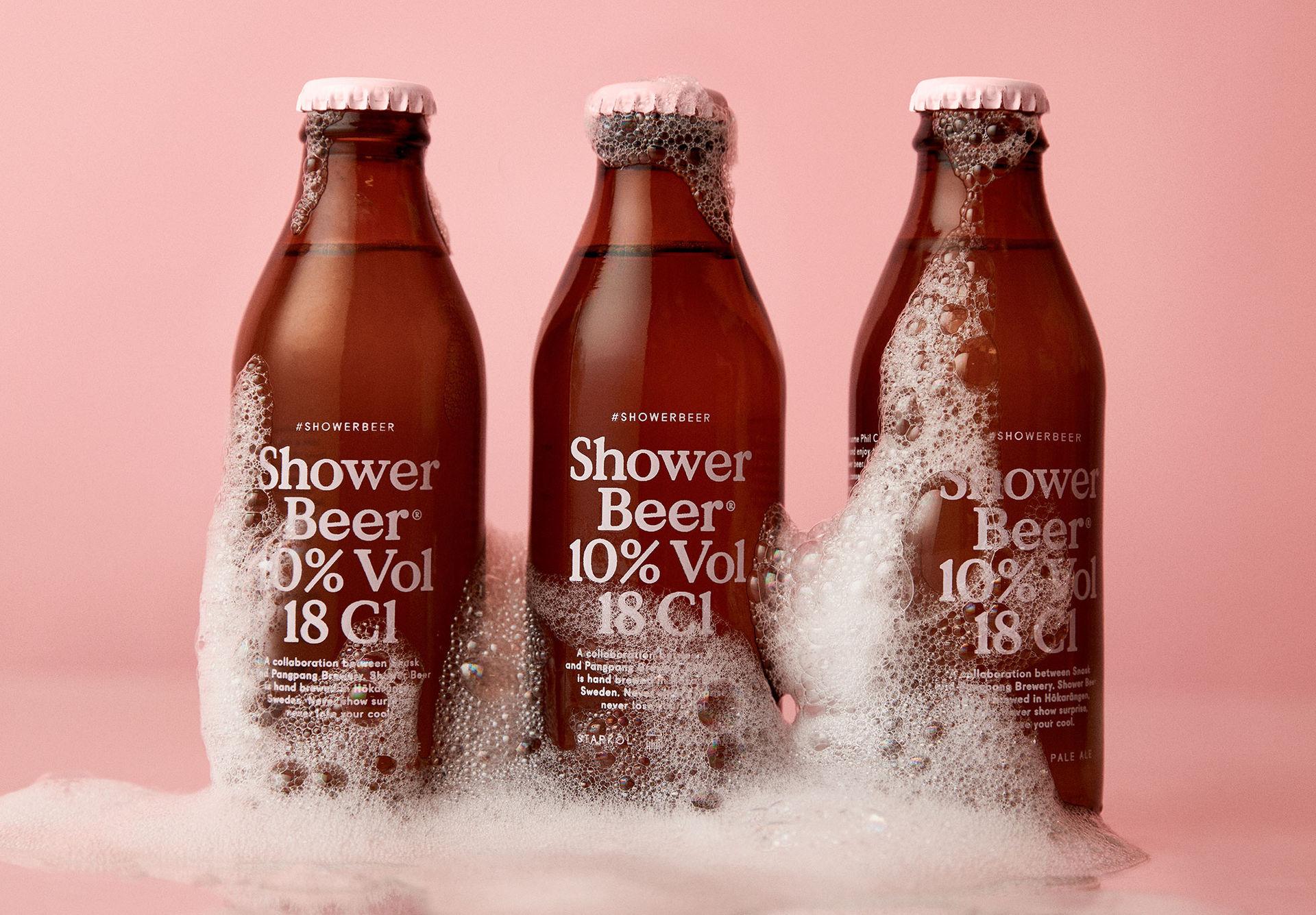 En öl för duschen