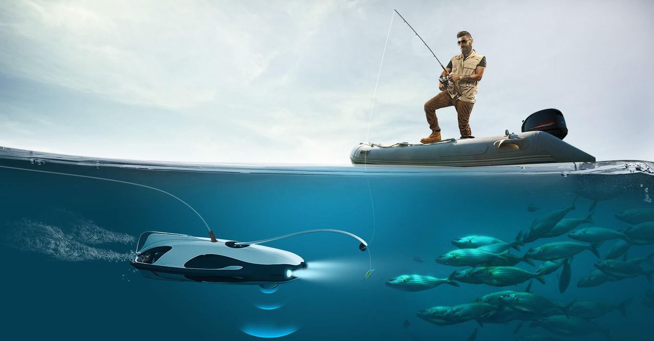 En undervattensdrönare för fiskare