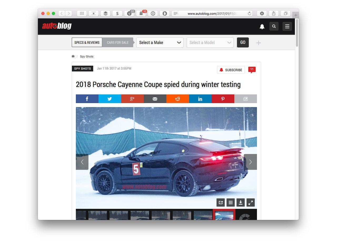 Porsche jobbar på högre Panamera