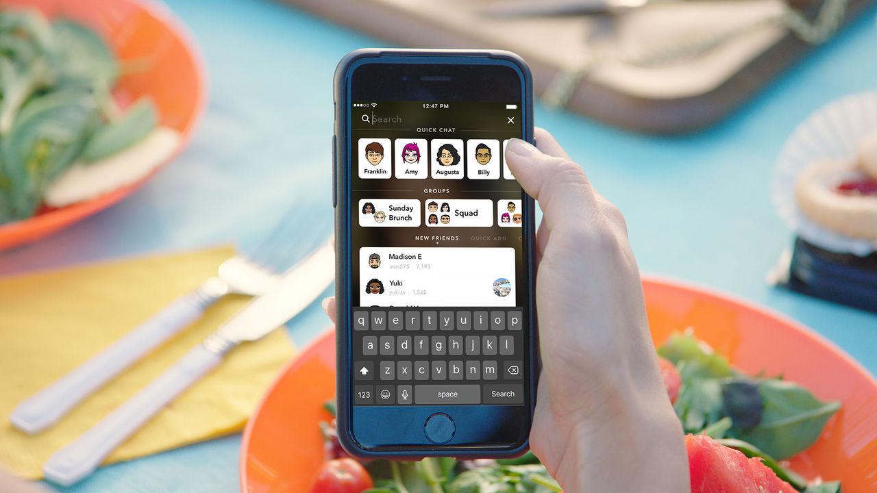 Snapchat får ny sökfunktion