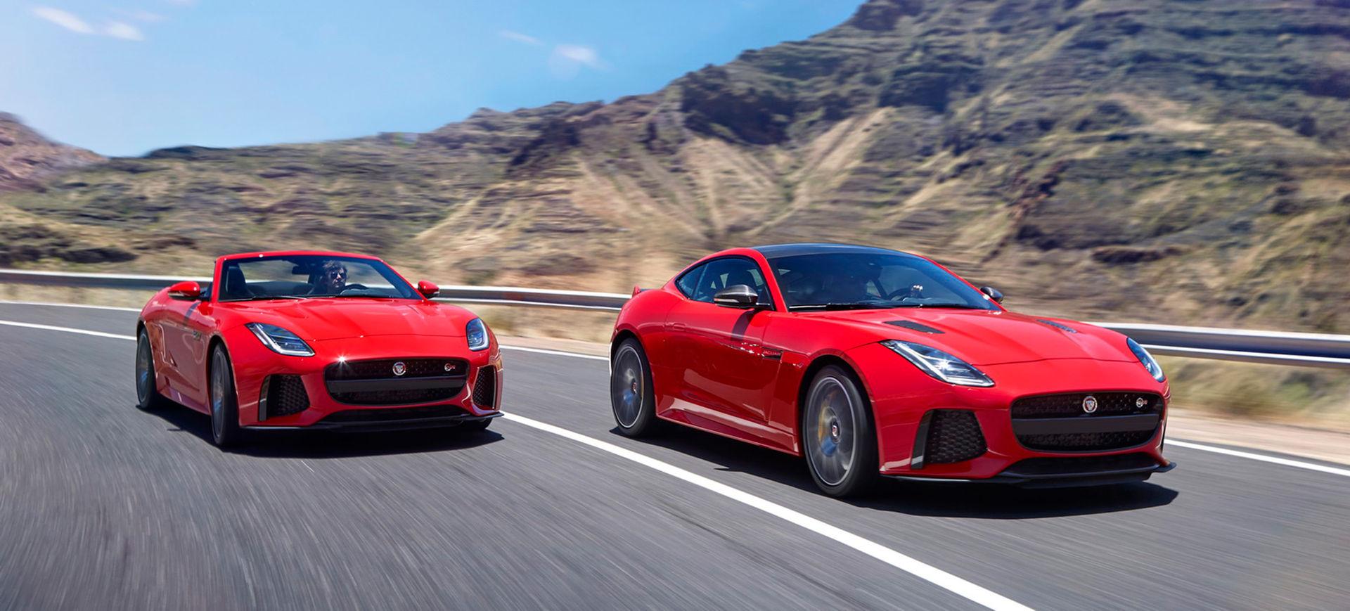 Jaguar lyfter F-Type