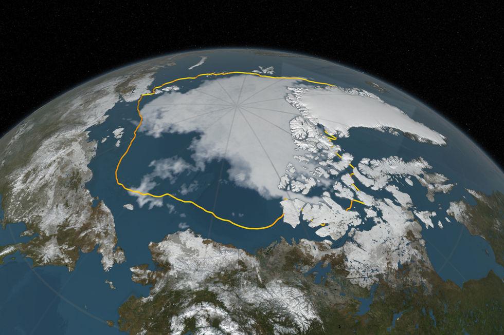 Mängden flytande is i världen är rekordlåg
