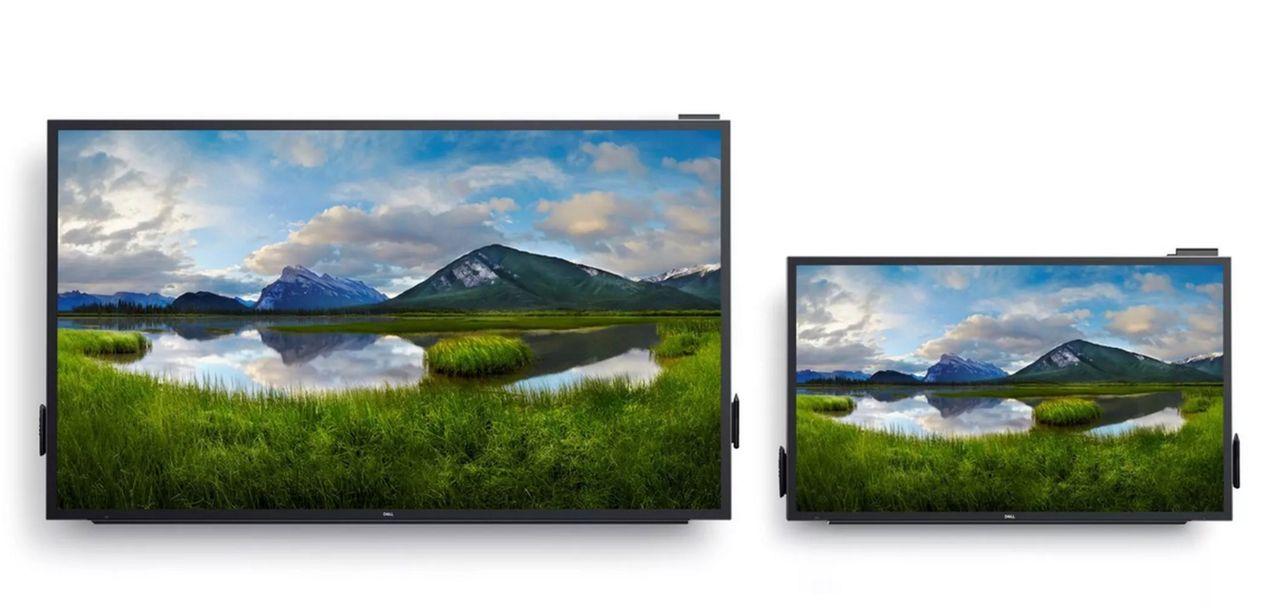 Dell visar upp massiva monitorer