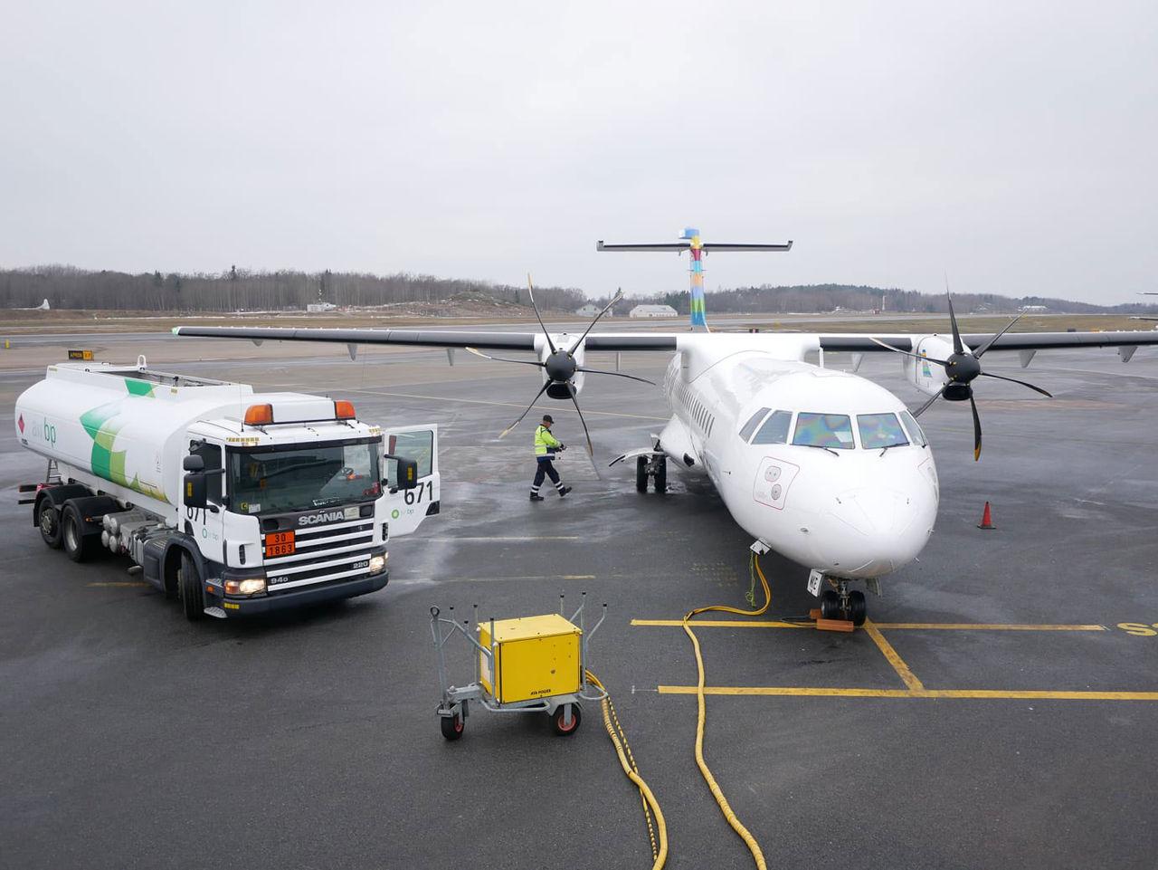 BRA körde premiärtur med klimatsmart flygplan i går