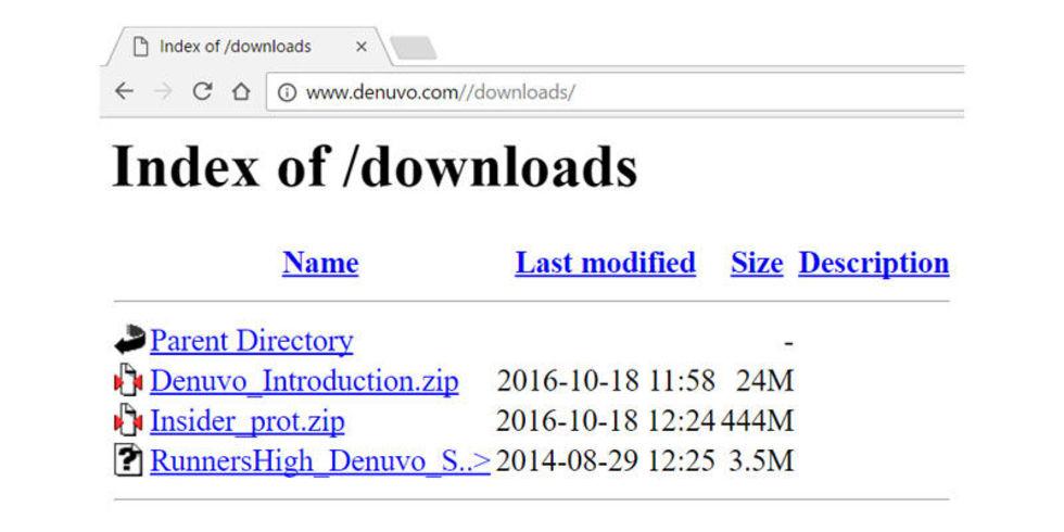 Företagsmejl läckta på Denuvos hemsida