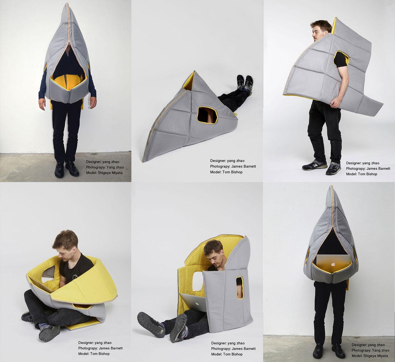 Bärbar möbel för dig på språng