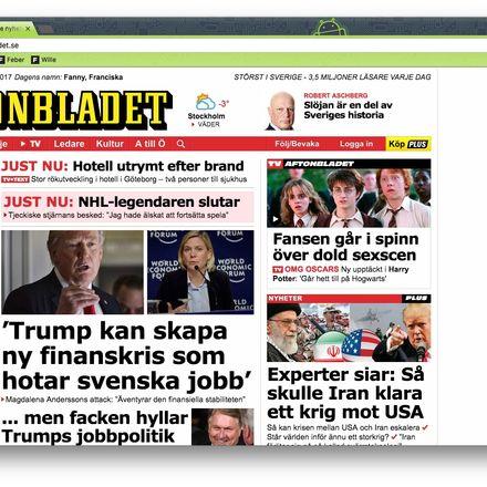 Aftonbladet skriver tv historia